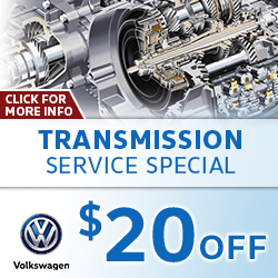 Click for transmission service special at Baxter Volkswagen La Vista