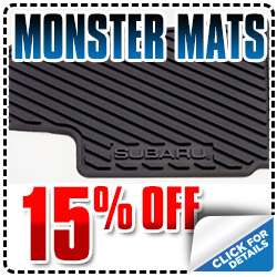 Carlsbad Subaru Monster Mats Parts Special serving San Diego, California