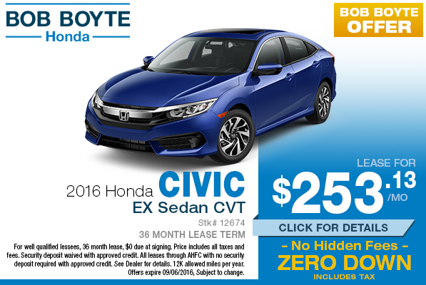 Best zero down lease autos post for Honda civic lease offers