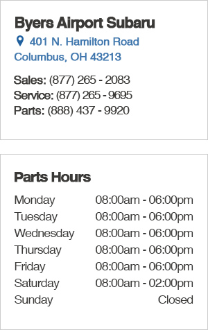 Subaru Parts Hours & Location serving Columbus