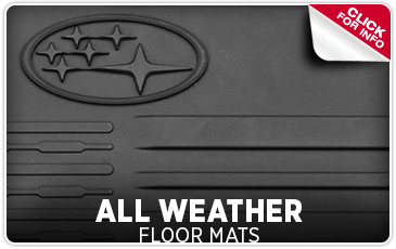 Learn more about Genuine Subaru parts and accessories - all-weather floor mats help keep the interior of your Subaru cleaner and drier - Get them at Byers Airport Subaru in Columbus, OH
