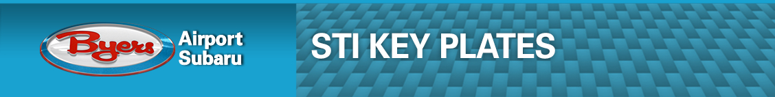 Subaru STI Key Plates Performance Parts Information in Columbus, OH