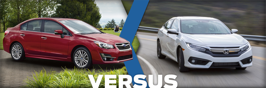 Byers Airport Subaru >> New 2016 Subaru Impreza VS Honda Civic Model Comparison ...