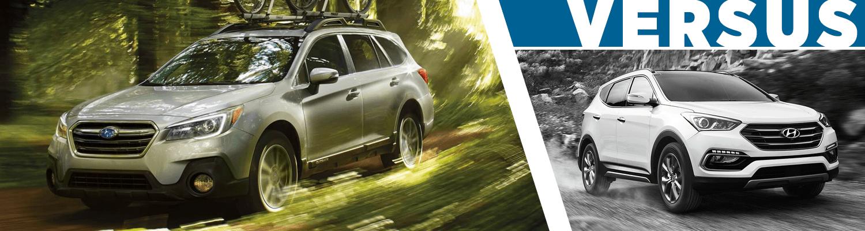 Subaru Santa Fe >> 2018 Subaru Outback Vs 2018 Hyundai Santa Fe Sport Suv