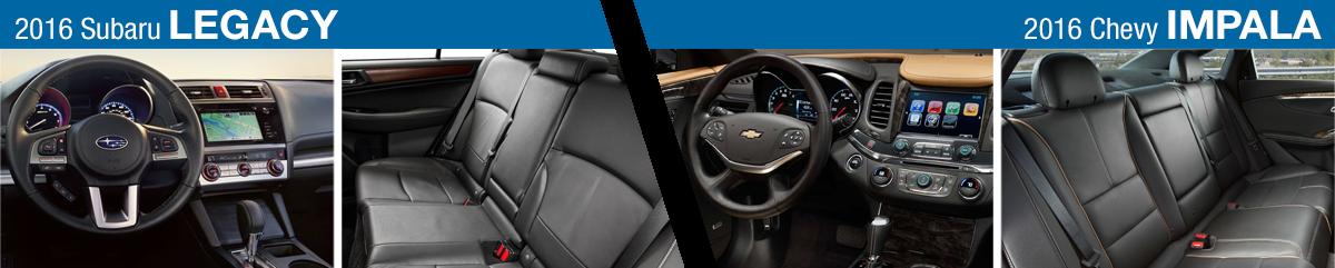 New 2016 Subaru Legacy Vs Chevrolet Impala Model Comparison Columbus Oh
