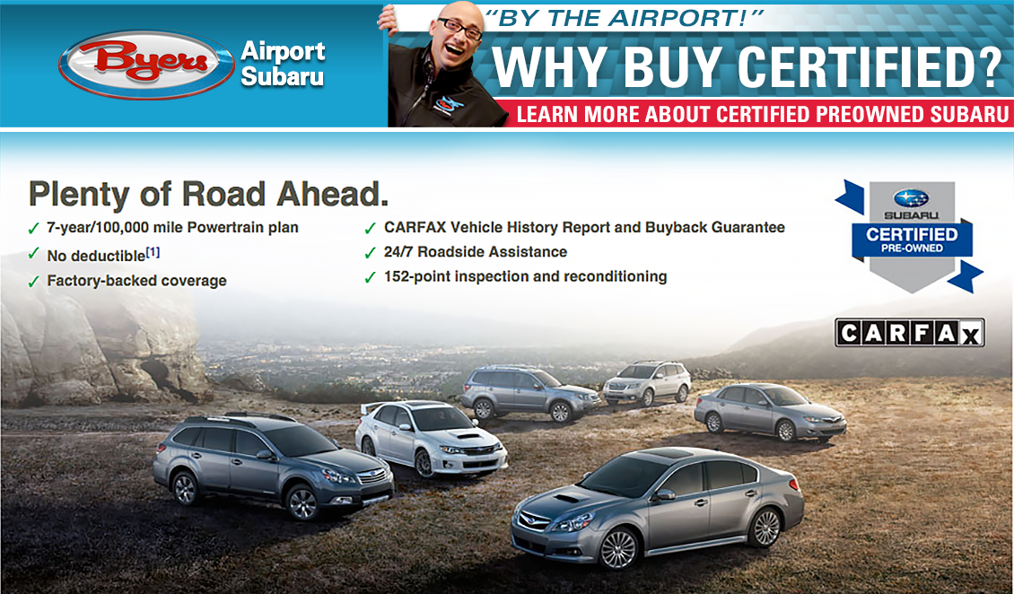 Subaru Certified Pre-Owned Cars offer guaranteed value in Columbus, OH