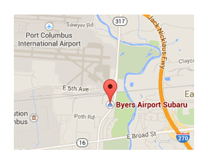 Byers Airport Subaru in located at 401 North Hamilton Road, Columbus, OH 43213
