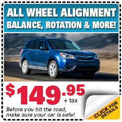 Save on Your Next All-Wheel Alignment Service at Byers Airport Suabru in Columbus, OH