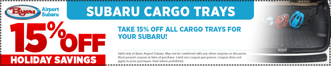 Save with this Columbus, OH area parts special offer on a Subaru Cargo Tray from Byers Airport Subaru in Columbus, OH
