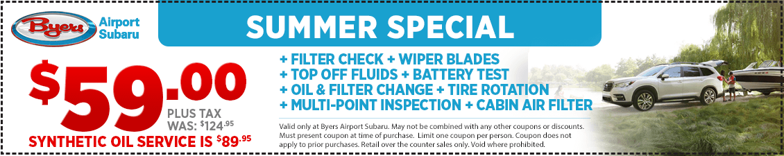 Save this Summer on Service at Byers Airport Subaru in Columbus, OH