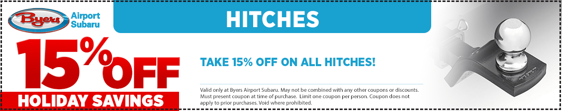 Save with this special offer on a genuine Subaru Trailer Hitch from Byers Airport Subaru in Columbus, OH
