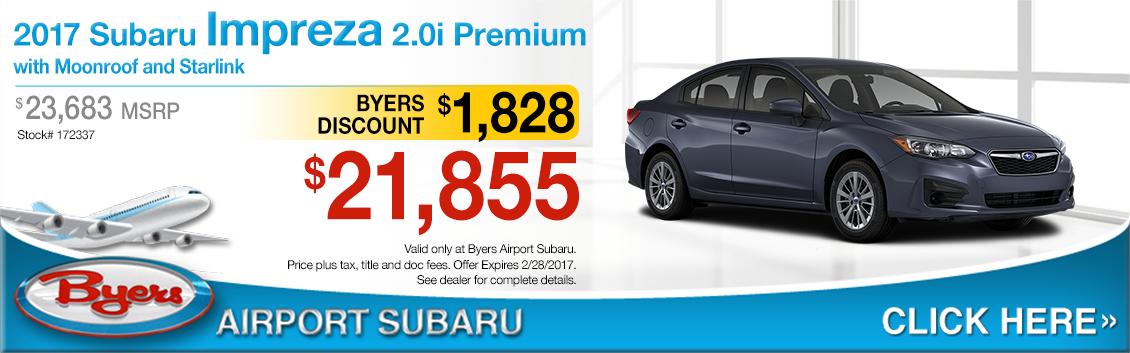 2017 Subaru Impreza 2.0i Premium Sedan Purchase Special in Columbus, OH