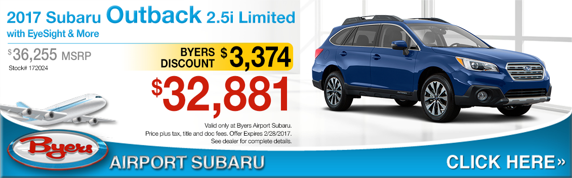 2017 Subaru Outback 2.5i Limited w/ EyeSight Sales Special in Columbus, OH