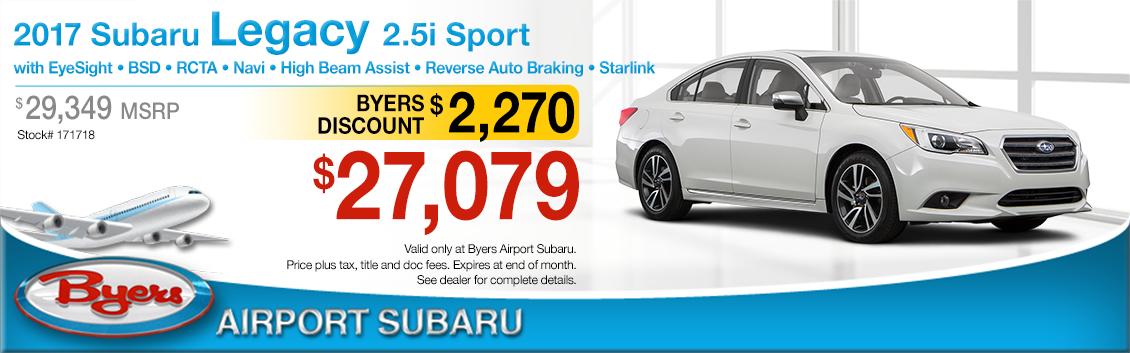 2017 Subaru Legacy 2.5i Sport Sales Special in Columbus, OH