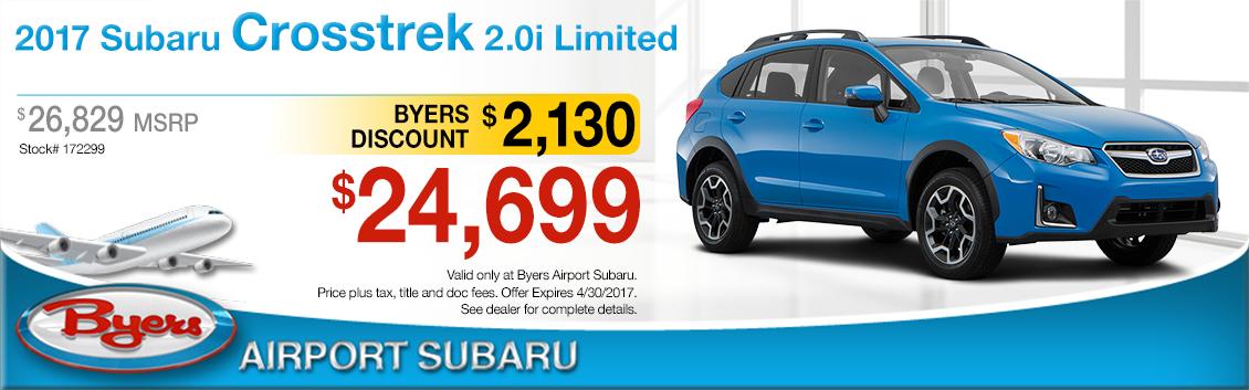 2017 Subaru Crosstrek 2.0 Limited Sales Special in Columbus, OH