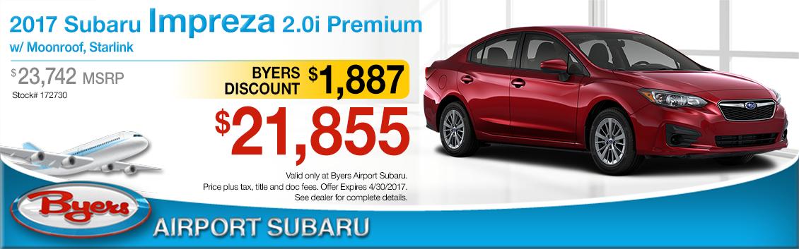 2017 Subaru Impreza 2.0i Premium Purchase Special in Columbus, OH