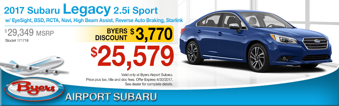 2017 Subaru Legacy 2.5i Sport Purchase Special in Columbus, OH
