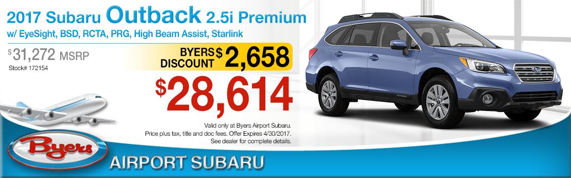 2017 Subaru Outback 2.5i Premium Sales Special in Columbus, OH