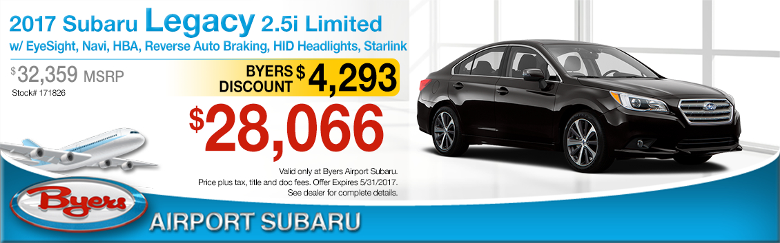 2017 Subaru Legacy 2.5i Limited Purchase Special in Columbus, OH