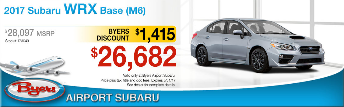 2017 Subaru WRX Base Sales Special in Columbus, OH
