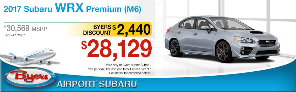 2017 Subaru WRX Premium Purchase Special in Columbus, OH