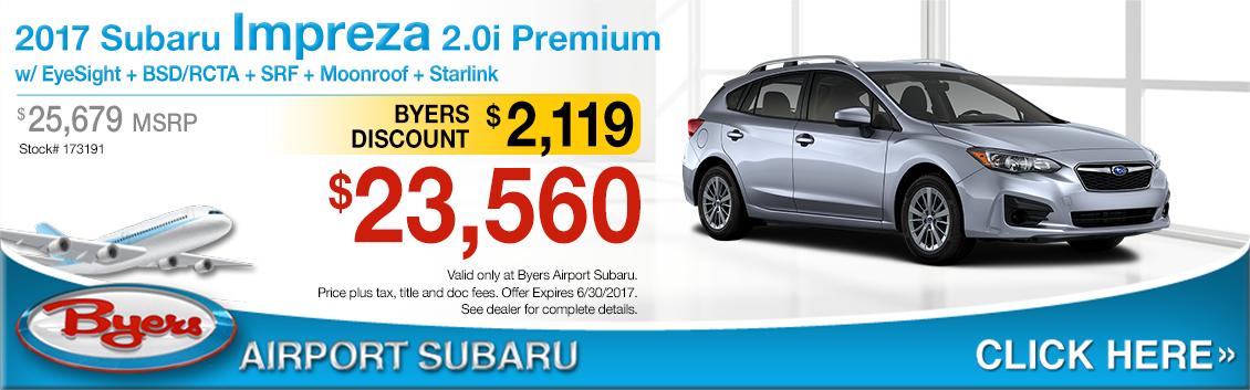 2017 Subaru Impreza 2.0i Premium Sales Special in Columbus, OH