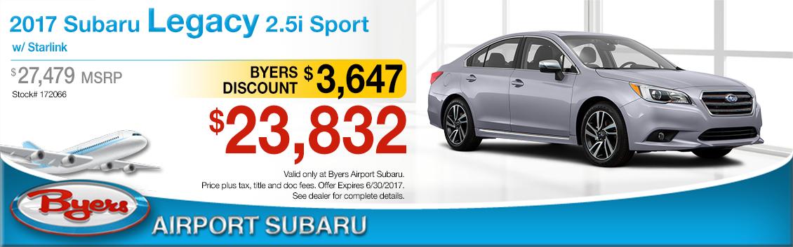 2017 Subaru Legacy 2.5i Sport w/ Starlink Sales Special in Columbus, OH