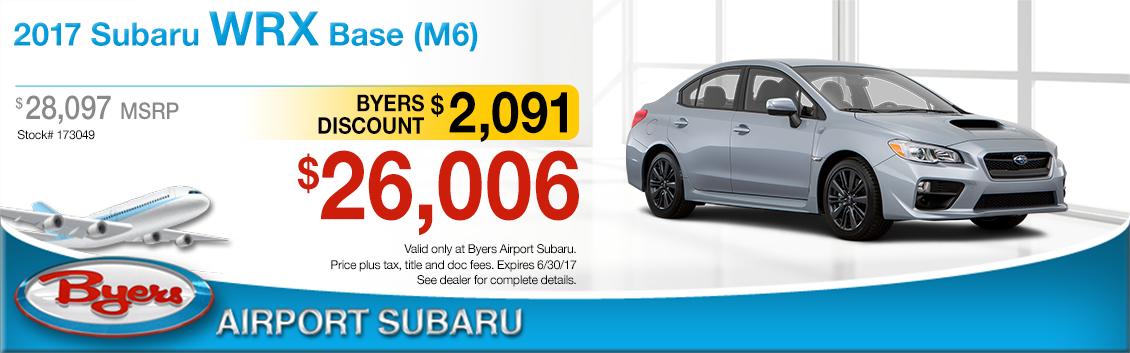 2017 Subaru WRX Sales Special in Columbus, OH