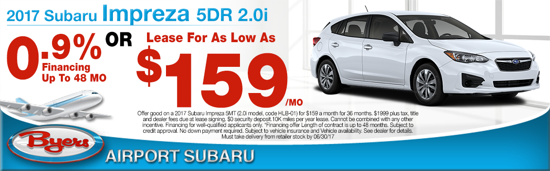 2017 Subaru Impreza 2.0i 5-Door Lease or Low APR Special in Columbus, OH