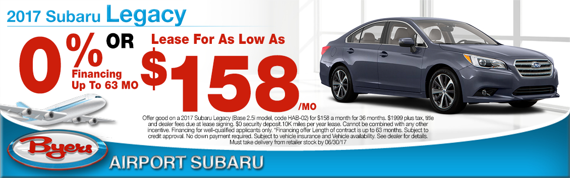 2017 Subaru Legacy 2.5i Lease or Low Payment APR Specials in Columbus, OH