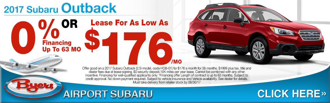 2017 Subaru Outback 2.5i Lease or Low Payment APR Specials in Columbus, OH