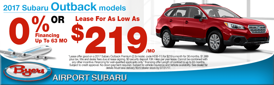 2017 Subaru Outback Financing or Lease Special in Columbus, OH