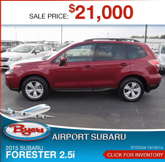 Certified Pre-Owned 2015 Subaru Forester 2.5i Special in Columbus, OH