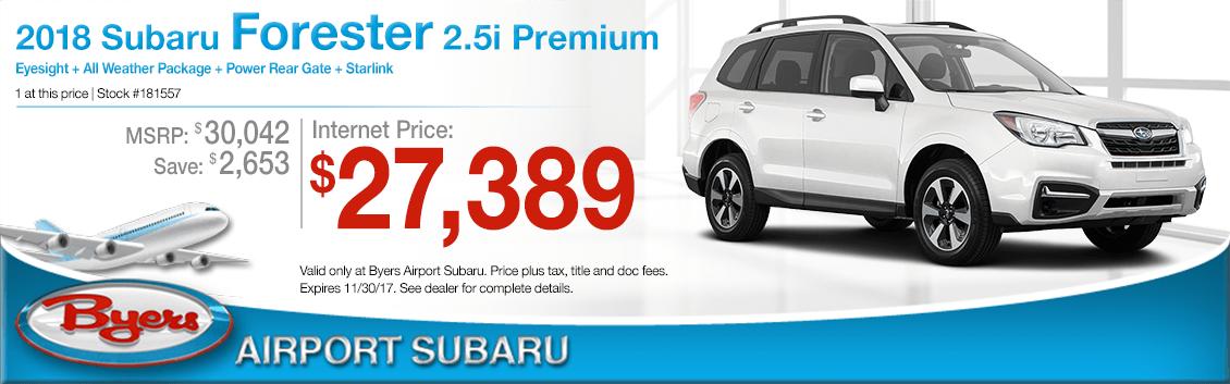 2018 Subaru Forester 2.5i Premium Sales Special in Columbus, OH