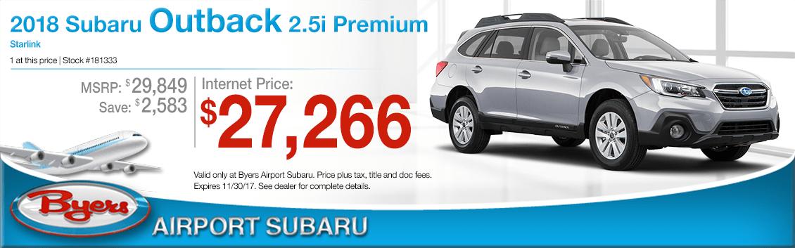 2018 Subaru Outback 2.5i Premium Sales Special in Columbus, OH