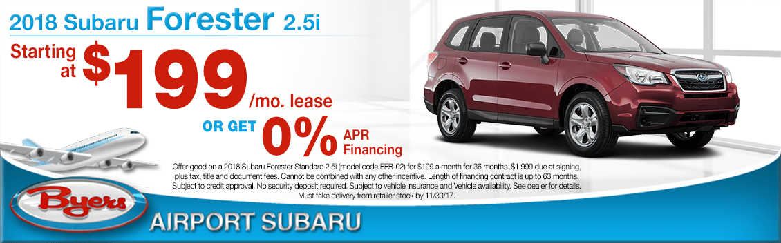 2018 Subaru Forester Lease Special in Columbus, OH