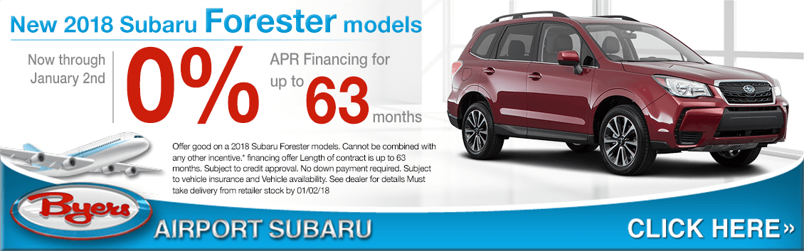 2018 Forester low APR finance special at Byers Airport Subaru in Columbus, OH
