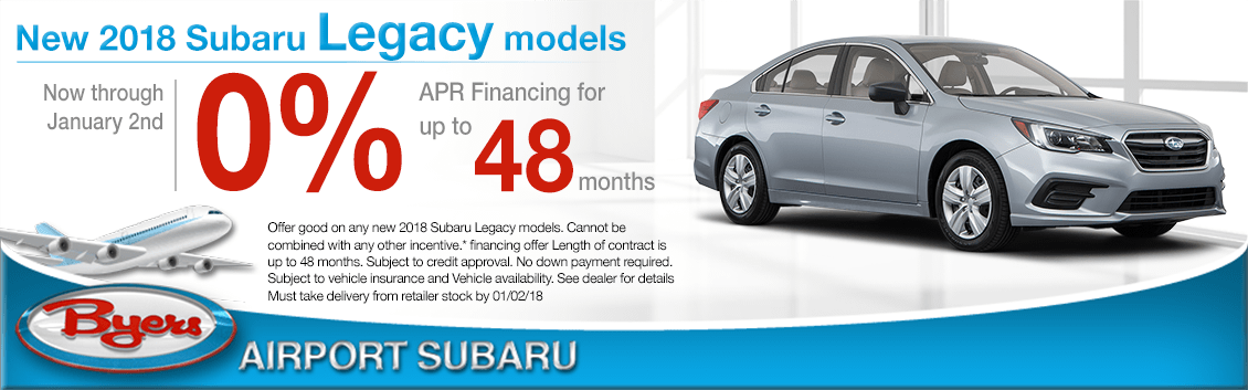 2018 Legacy Finance Special at Byers Airport Subaru in Columbus, OH