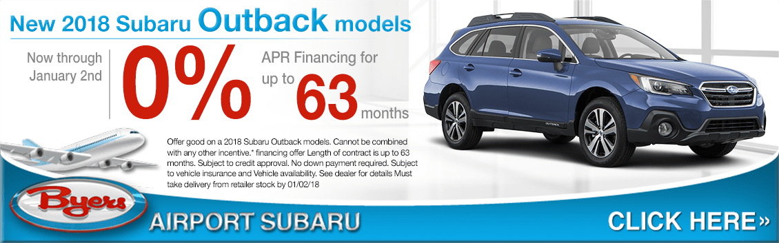 2018 Outback models low APR finance special at Byers Airport Subaru in Columbus, OH