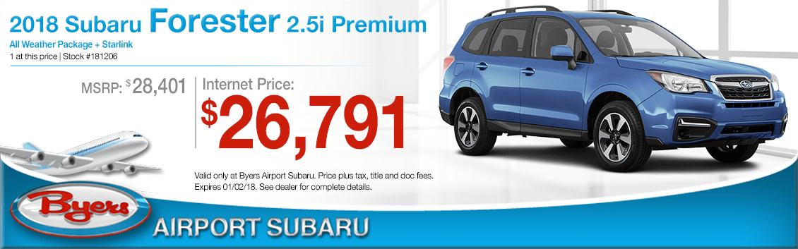 2018 Forester 2.5i Premium Purchase Special at Byers Airport Subaru in Columbus, OH