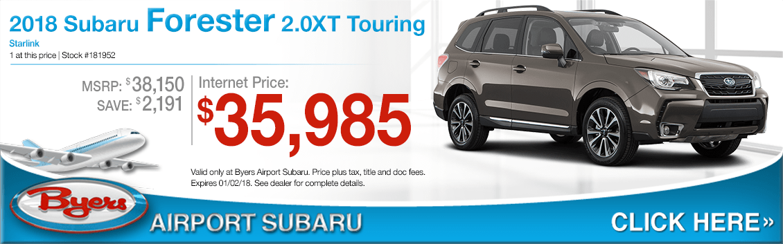 2018 Forester 2.0XT Touring Sales Special at Byers Airport Subaru in Columbus, OH