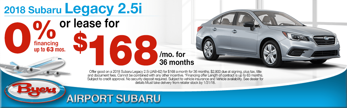 2018 Subaru Legacy Lease & Low Financing Special Offer in Columbus, OH
