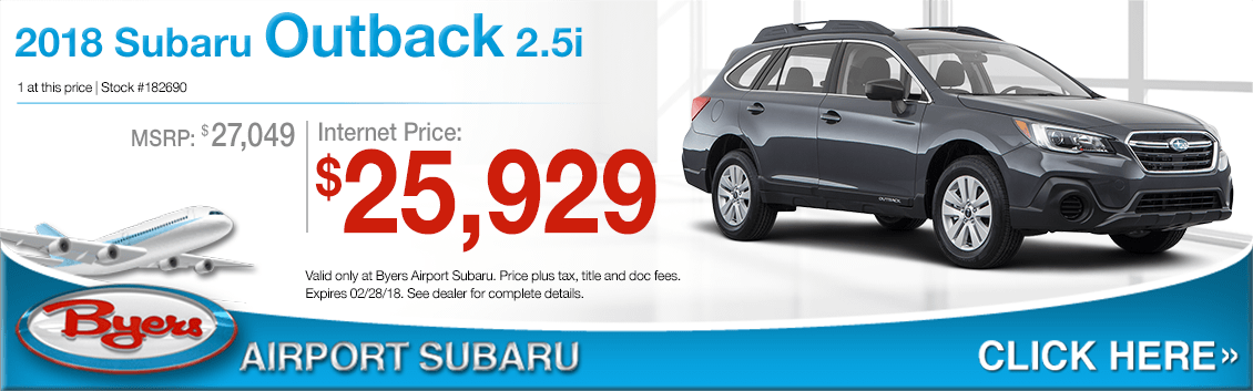 2018 Subaru Outback 2.5i Purchase Sales Special in Columbus, OH