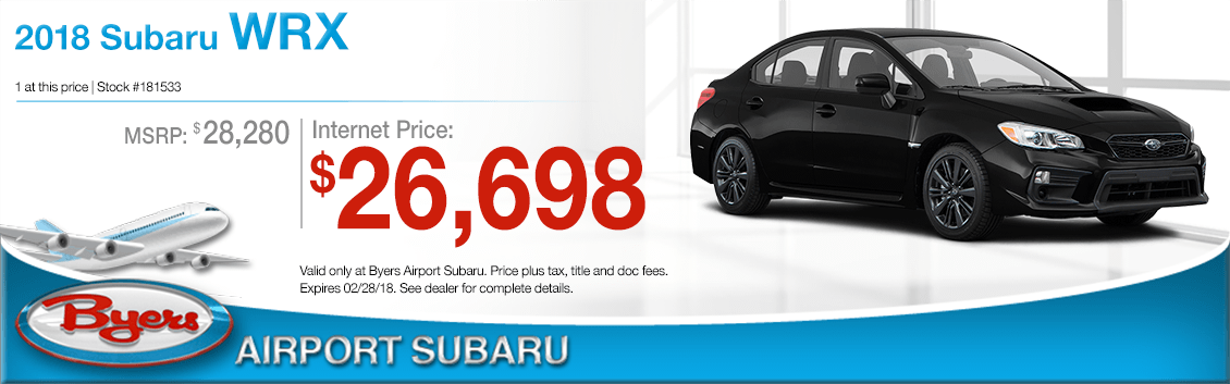 2018 Subaru WRX Purchase Special in Columbus, OH