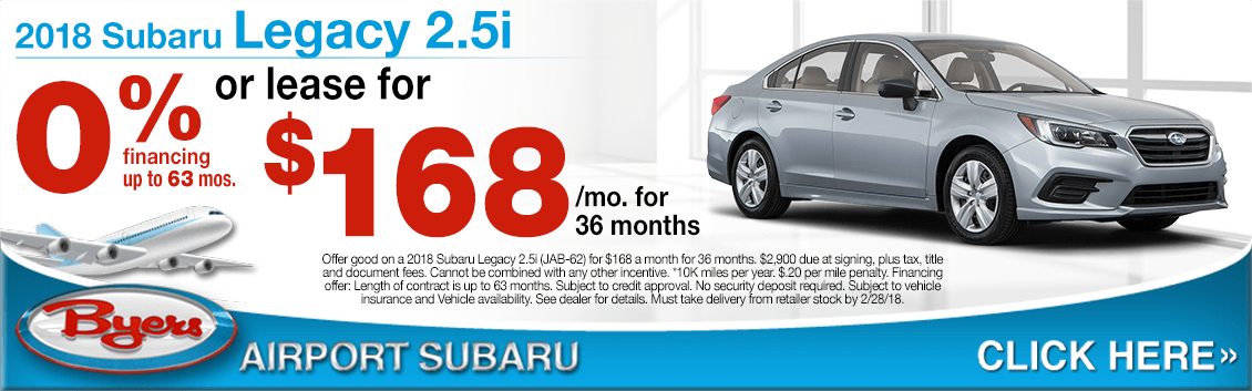 2018 Subaru Legacy 2.5i Lease or Financing Sales Special in Columbus, OH