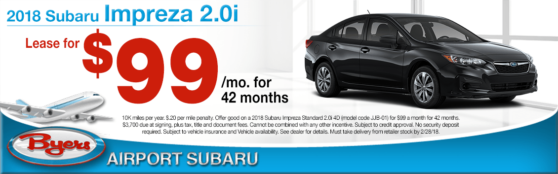 2018 Subaru Impreza 2.0i Lease Special in Columbus, OH