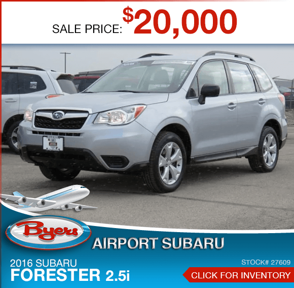 2016 Subaru Forester 2.5i certified pre-owned discount in Columbus, OH