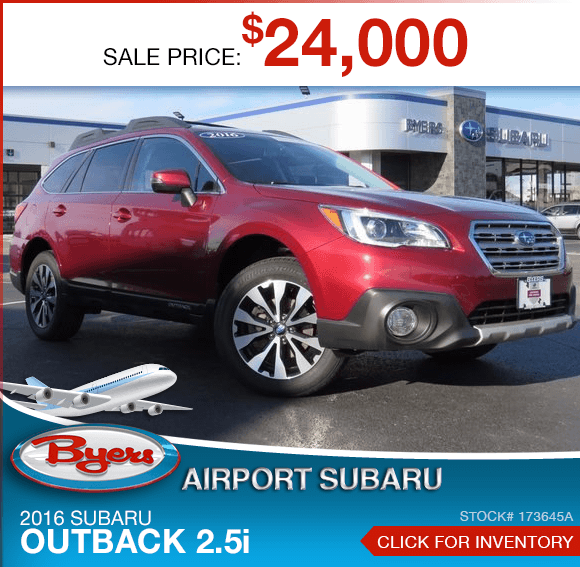 2016 Subaru Outback 2.5i certified pre-owned special in Columbus, OH