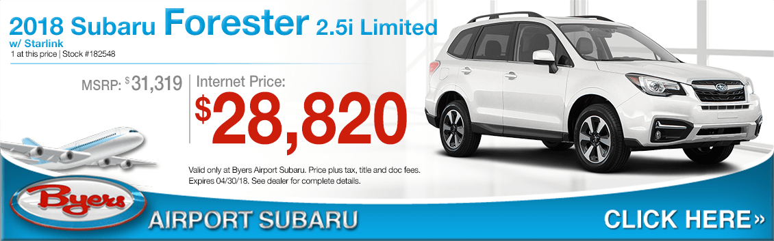 2018 Subaru Forester 2.5i Limited Special Low Purchase Offer in Columbus, OH