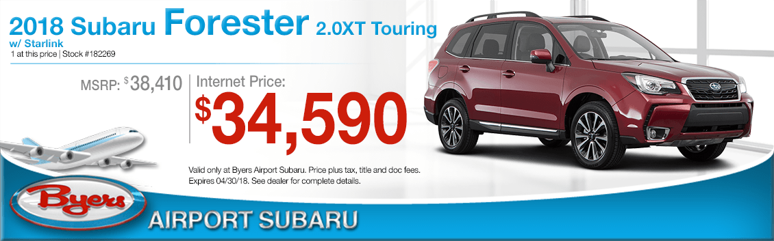 2018 Subaru Forester 2.0XT Touring Special Low Purchase Offer in Columbus, OH